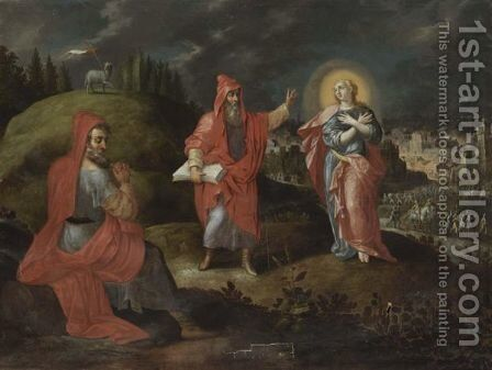Saint John The Baptist In The Wilderness by (after) Englebert Fisen - Reproduction Oil Painting