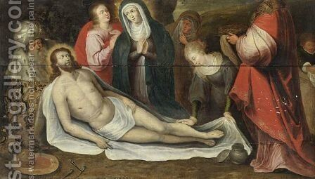 The Entombment 2 by (after) Frans II Francken - Reproduction Oil Painting