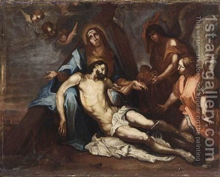 The Lamentation Of Christ by (after) Dyck, Sir Anthony van - Reproduction Oil Painting