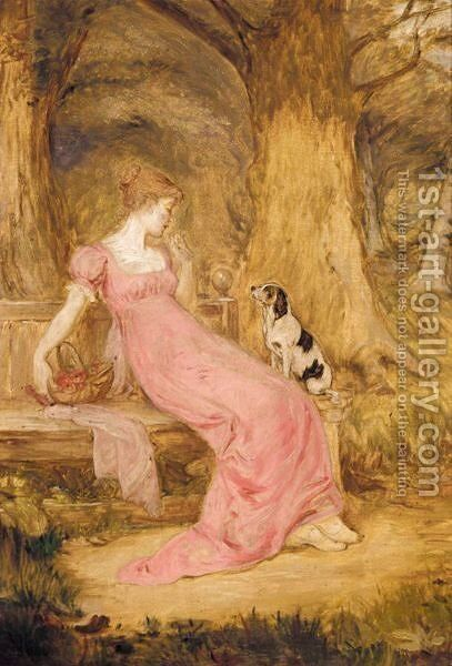 A Woodland Tryst by Sir William Quiller-Orchardson - Reproduction Oil Painting