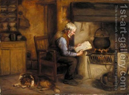 The Morning News by Henry John Dobson - Reproduction Oil Painting