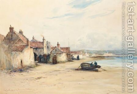 Lower Largo, The Birthplace Of Robinson Crusoe by James MacMaster - Reproduction Oil Painting