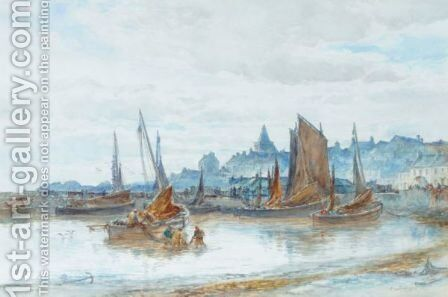 The Harbour At St. Monans by Alexander Ballingall - Reproduction Oil Painting