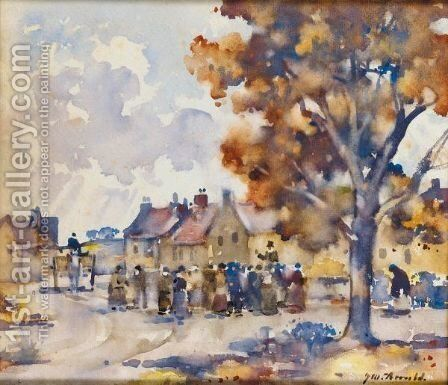 The Country Auction by James Watterston Herald - Reproduction Oil Painting