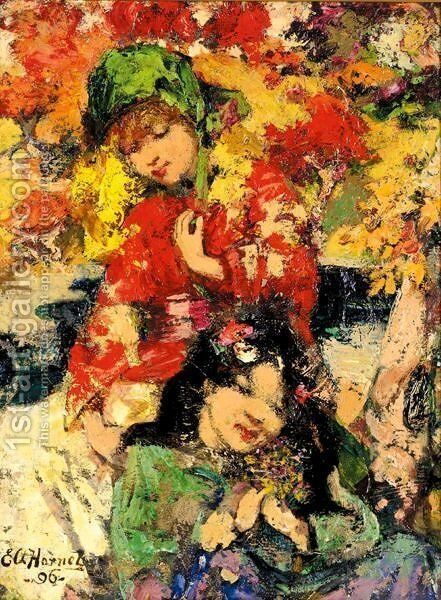 Flowers Of Japan by Edward Atkinson Hornel - Reproduction Oil Painting