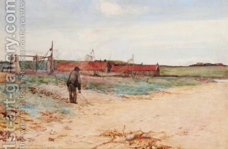 A Salmon Fishing Station On The Scottish Coast by Sir Alfred East - Reproduction Oil Painting