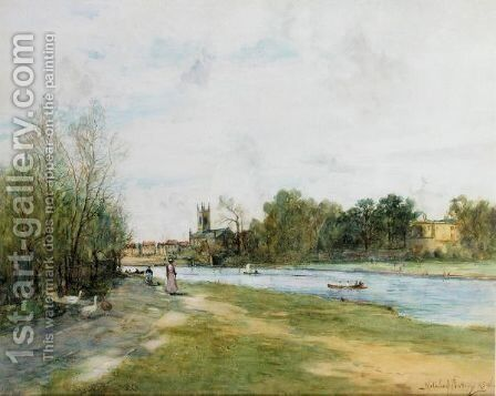 The River Path by Alexander Wellwood Rattray - Reproduction Oil Painting