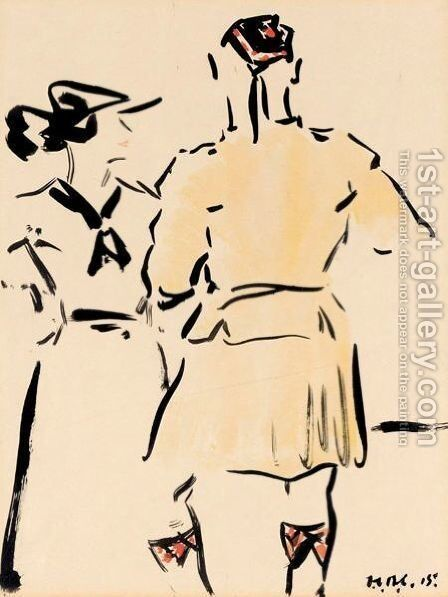 Brief Encounter by Francis Campbell Boileau Cadell - Reproduction Oil Painting