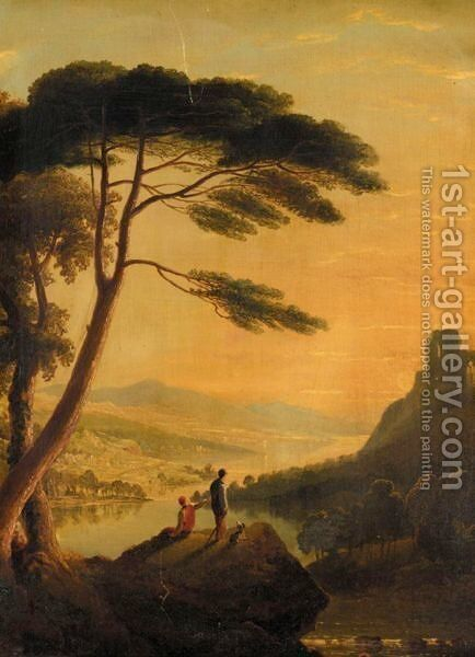 Classical Landscape by English School - Reproduction Oil Painting