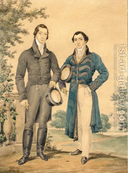 Portrait Of Mr J.H.Woodward And Mr J.S.Urquhart by James Warren Childe - Reproduction Oil Painting