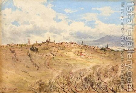 A View Of Siena, Italy by Herbert Moxon Cook - Reproduction Oil Painting