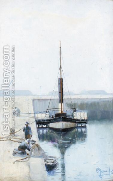 In The Harbour by Alexander Young - Reproduction Oil Painting