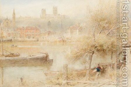 Lincoln Cathedral by Albert Goodwin - Reproduction Oil Painting