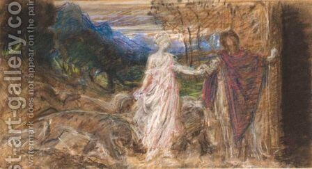 Study For The Resurrection Orpheus And Ulysses by Sir William Blake Richmond - Reproduction Oil Painting