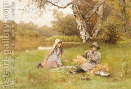 Golden Days by Charles Edward Wilson - Reproduction Oil Painting