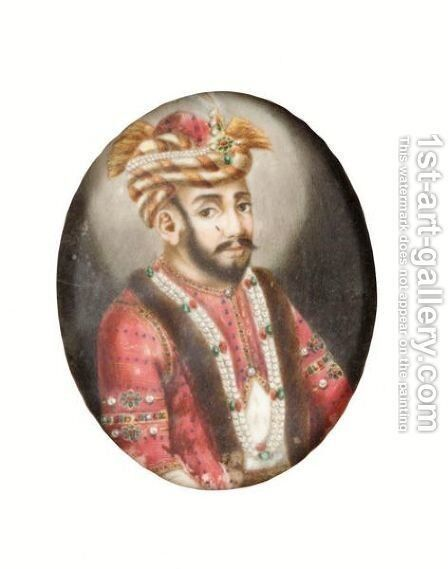 Mughal Indian Rulers by Indian School - Reproduction Oil Painting