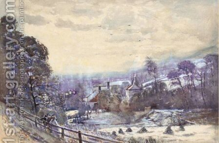 Winter Landscape by Mason Hunter - Reproduction Oil Painting