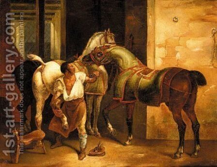 Le Marechal Francais by (after) Theodore Gericault - Reproduction Oil Painting