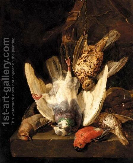 Still Life Of Game by Andreas Lach - Reproduction Oil Painting