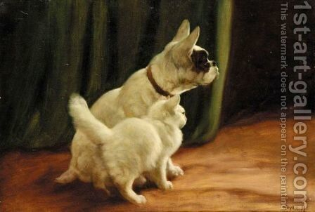 Best Of Friends 2 by Arthur Heyer - Reproduction Oil Painting