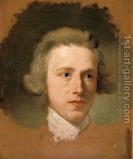 Portrait Sketch Of The Head Of A Young Man by Anton Raphael Mengs - Reproduction Oil Painting