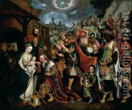 The Adoration Of The Magi by (after) Maarten De Vos - Reproduction Oil Painting