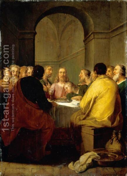 The Last Supper by Abraham Bloemaert - Reproduction Oil Painting
