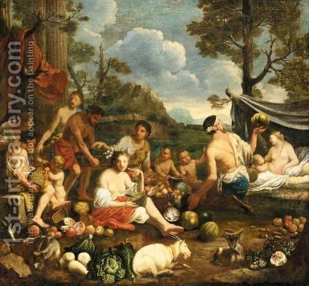 Allegory Of Summer by Johann Heiss - Reproduction Oil Painting