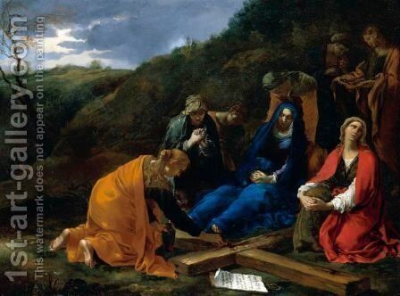 The Three Maries Lamenting At The Foot Of The Cross by Andrea Di Lione - Reproduction Oil Painting