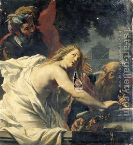 Susanna And The Elders by Cornelius I Schut - Reproduction Oil Painting