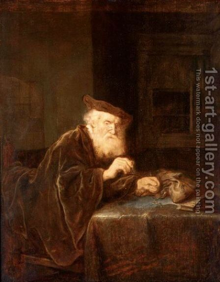 The Gold Weigher by (after) Salomon Koninck - Reproduction Oil Painting