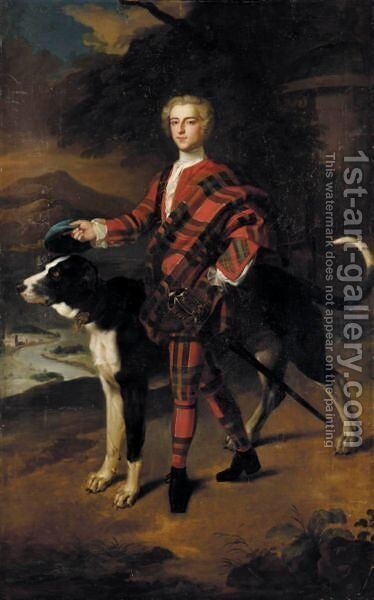 Portrait Of A Gentleman, Possibly A Member Of The Campbell Family Of Breadalbane by (after) Jeremiah Davison - Reproduction Oil Painting