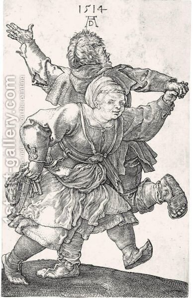 The Peasant Couple Dancing by Albrecht Durer - Reproduction Oil Painting