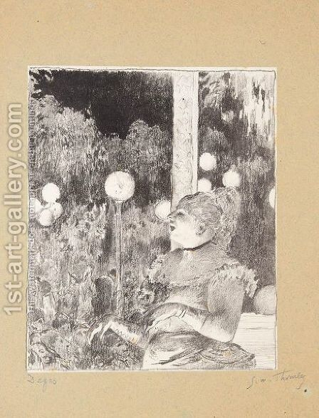 The Song Of The Dog by (after) Edgar Degas - Reproduction Oil Painting