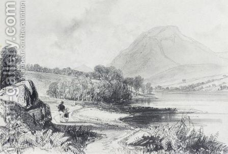 Loweswater by Edward Lear - Reproduction Oil Painting