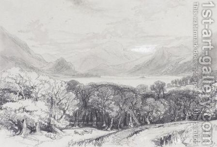 Ullswater From Gowsbarrow Park by Edward Lear - Reproduction Oil Painting