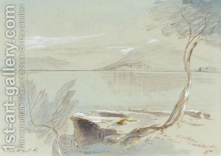 Lake Garda, Italy 2 by Edward Lear - Reproduction Oil Painting