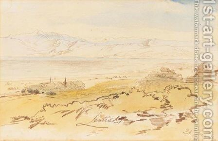 Smakieras, Corfu by Edward Lear - Reproduction Oil Painting
