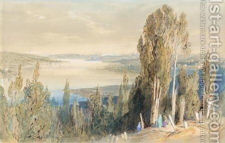 Constantinople From Ayoub by Edward Lear - Reproduction Oil Painting