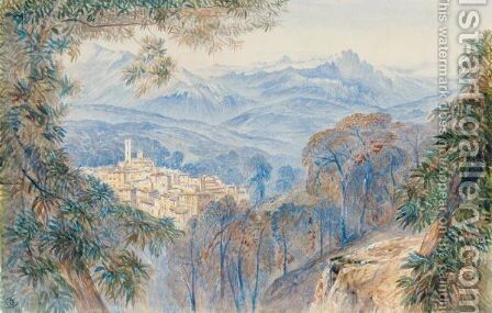 Vico, Corsica by Edward Lear - Reproduction Oil Painting