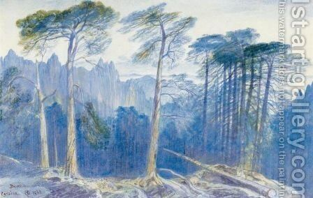 The Pine Forest Of Bavella, Corsica by Edward Lear - Reproduction Oil Painting