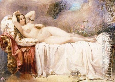 Odalisque by Edward Henry Corbould - Reproduction Oil Painting
