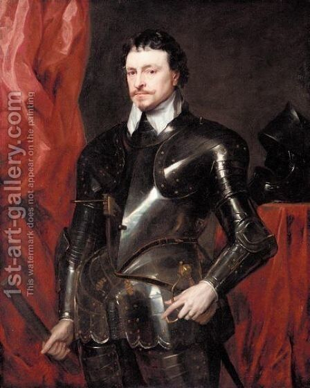 Portrait Of Thomas Wentworth, 1st Earl Of Strafford by (after) Dyck, Sir Anthony van - Reproduction Oil Painting