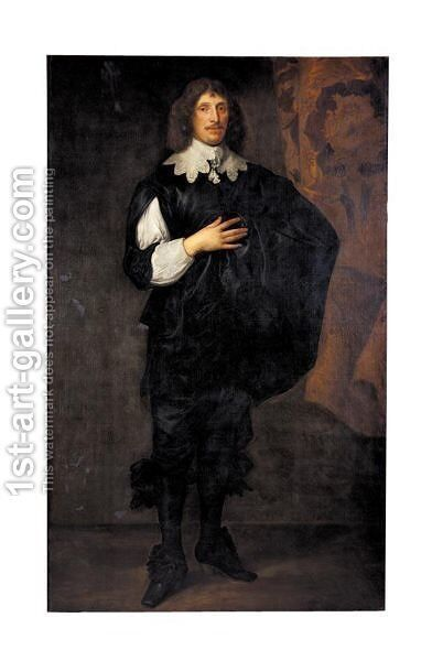 Portrait Of Sir Basil Dixwell, 1st Bt. (1585-1642) by (after) Dyck, Sir Anthony van - Reproduction Oil Painting