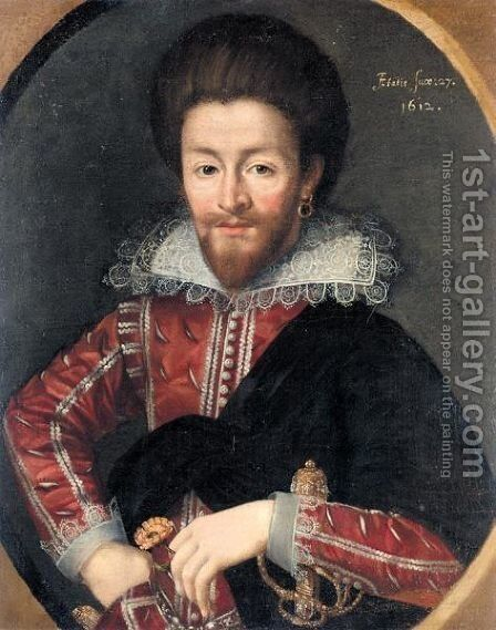 Portrait Of A Gentleman 3 by (after) Marcus The Younger Gheeraerts - Reproduction Oil Painting
