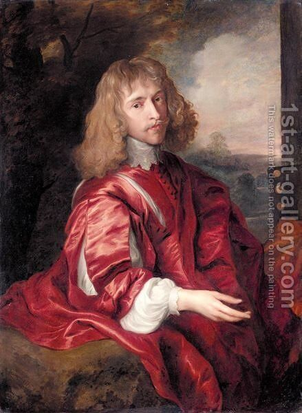 Portrait Of Robert Dormer, 1st Earl Of Carnarvon (C.1610-1643) by (after) Dyck, Sir Anthony van - Reproduction Oil Painting