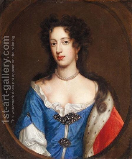 Portrait Of Mary Of Modena, Wife Of James II by (after) William Wissing Or Wissmig - Reproduction Oil Painting