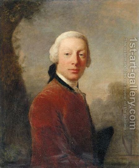 Portrait Of A Gentleman by Allan Ramsay - Reproduction Oil Painting