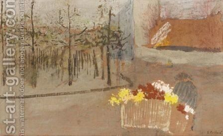 La Bouquetiere by Edouard  (Jean-Edouard) Vuillard - Reproduction Oil Painting