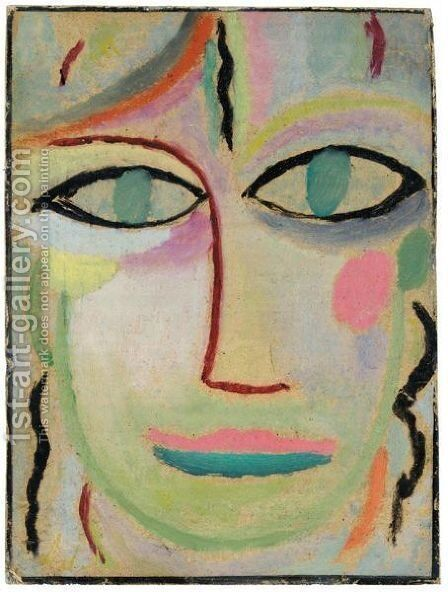 Frauenkopf (Head Of A Woman) by Alexei Jawlensky - Reproduction Oil Painting